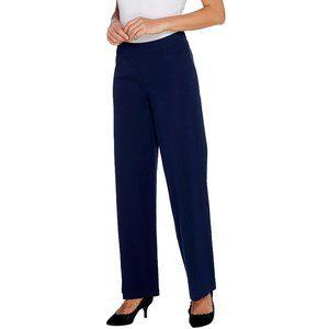 6 Isaac Mizrahi 24/7 Stretch Wide Leg Pants Navy